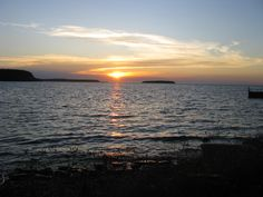 A beautiful Door County Wisconsin sunset in Ephraim. Looks like pictures we took many times from the beach in Ephraim eating a Wilson's ice cream cone as the girls skipped rocks in the lake! It doesn't get any better than this!