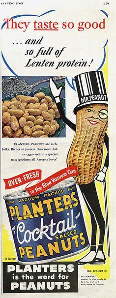 Oooh...shiny peanuts full of lenten protein! Wha?