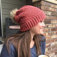 Crochet Hat Pattern Womens Hat Mens Hat How To Crochet | Etsy Slouch Hat Crochet Pattern, Slouchy Beanie Pattern, Crochet Slouchy Beanie, Crochet Jacket, Knitted Hats, Crochet Hats, Lion Brand Wool Ease, Winter Hats For Women, Tunisian Crochet