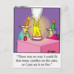 Shop Funny Firey Birthday Cake Postcard created by Spectickles. Personalize it with photos & text or purchase as is! Funny Birthday Invitations, Birthday Thank You Cards, Birthday Postcards, Happy Birthday Funny, Funny Happy, 40th Birthday Parties, Birthday Wishes, Birthday Memes, Birthday Diy