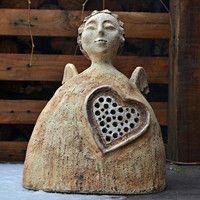 Prodané zboží uživatele KeraMKa | Fler.cz Ceramic Clay, Ceramic Pottery, Crafty Angels, Ceramic Angels, Arte Popular, Metallica, Handmade, Inspiration, Statues