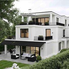 45 luxury modern house exterior design ideas – My Ideas Design Exterior, Home Interior Design, Black Exterior, Modern Exterior, Luxury Homes Exterior, Lobby Interior, Facade Design, Balkon Design, Dream House Exterior
