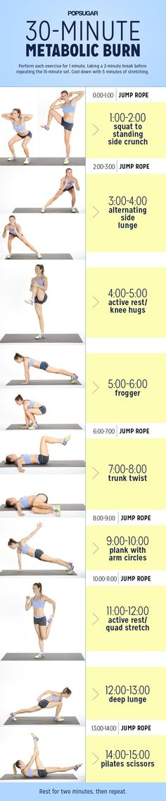 Try this 30-minutes workout to boost your metabolism and maximize your calorie-burning potential.
