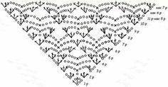 Shawl chart chal crochet pattern