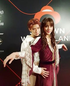 Jaehyun and Jungwoo from NCT 127 as Jack and Rose from Titanic, SM Halloween party Nct 127, Nct Johnny, Jaehyun Nct, Winwin, K Pop, Rapper, Nct Group, Kpop Memes, Nct Life