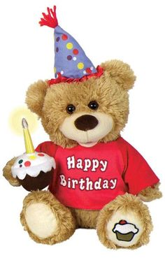 Buy Happy Birthday Light Up Candle Plush Bear. More - Happy Birthday Light Up Candle Plush Bear. Happy Birthday Light Up Candle Plush BearThis adorable birthday friend will arrive wearing a Happy Birthday tee shirt and holding a birthday cupcake with a ca Happy Birthday Teddy Bear, Happy Birthday Best Friend, Best Birthday Quotes, Singing Happy Birthday, Happy Birthday Funny, Happy Birthday Greetings, Cool Happy Birthday Images, Birthday Wishes And Images, Birthday Pictures