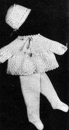Crochet Set Pattern Translator Conjunto Pinterest