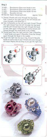 Простые схемы (2 кольца, шарики, крестик) | biser.info - всё о бисере и бисерном творчестве