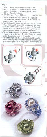 Simple scheme (2 rings, beads, cross) | biser.info - all about beads and beaded works