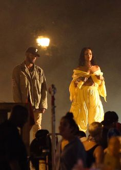 June 5: Bryson Tiller & Rihanna on set of a music video in Miami