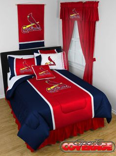 Need an instantly makeover for your room (or your kid's room)?  This St. Louis Cardinals bedding set will bring some serious team spirit and vibrant colors to the room.  Check it out!