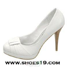 Yoko-01 White Semi Pointy High Heel Shoes $19.00 Clubbing Wedding Prom Fashion Style Bridal Interview Work