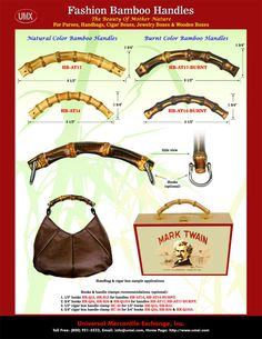 We are wholesale store of bamboo handle. Our bamboo handles can be use to make handbags, purses, cigar boxes, cigar purses, Boxes, cigar box purses, wood boxes and wooden box.