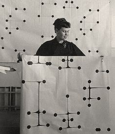 Ray Eames. Dot Pattern Fabric #influentialwomen #designer