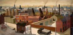 """View of Hanley""..Oil by Jack Clarkson. 