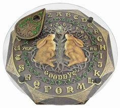 Octagonal moon-gazing hares ouija board. Sacred to the Goddess of Spring, the magical moon-gazing hare symbolizes the tides, seasons and fertility of nature
