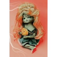 Etsy の halloween doll print aceo size Halloweena by boopsiedaisy