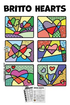 Romero Britto Valentine Heart Art Activity : This Valentines heart art project is fun for kids and incorporates some art history! Heart Art for Kids - Romero Britto Art Project for Kids! Valentines Art Lessons, Valentines Art For Kids, Valentine Heart, Art Lessons For Kids, Art Activities For Kids, Art Lessons Elementary, Classe D'art, Arte Pop, Heart Art