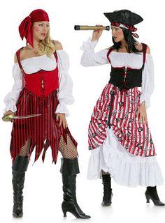 burda style, Schnittmuster für Halloween - Piratenbraut - Der Rock fetzig oder hochgerafft mit Unterrock, das knappe Mieder geschnürt und die kurze Wäschebluse mit Gummidurchzügen