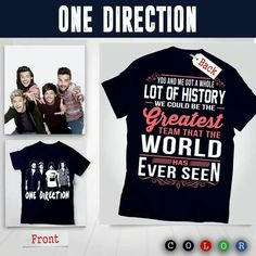 Limted Edition - We Free shipping for US Customers!  Get Here==> http://fanticshirts.com/onehistory?pr=FREESHIPPING  Tag Directioners here <3