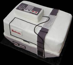 nintendo cake I remeber playing this with my brother