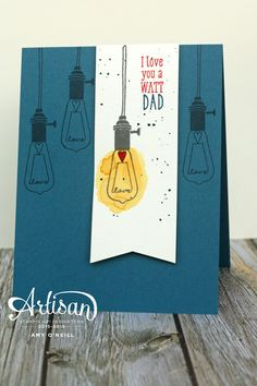 While I had Pun Intended out on my desk earlier this week, I made a Father's Day card with it.  And since the Paper Players is having a challenge with that theme this week, I decided to play …