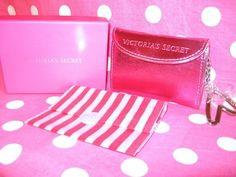 New Victoria Secret Pink Metallic Coin Purse Wallet Keychain Mirror Bag Case   eBay