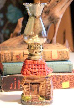 Adorable Vintage Cabin Lantern Oil Lamp by AntiqueAlchemists, $12.00