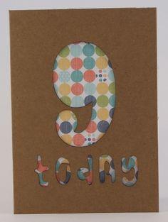 Birthday Card Age 9 £2.50