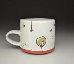 satin white mug. $45.00, via Etsy.