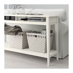 LIATORP Console table - white/glass - IKEA