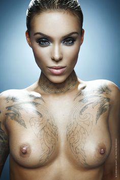 Outtake from our 2015 Arabella Drummond Tattoo Energy Calendar, by Tattoo Life. Photo: © Christian Saint - All Rights Reserved Makeup: MJ Forte / Hair: Valerie Knowles FACEBOOK / INSTAGRAM / TWITTER