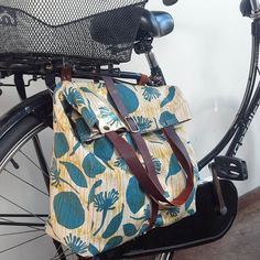 Hemp and organic cotton canvas bike bag, water resistant and converts to easy to carry shoulder bag... available at Finders Keepers Markets in Melbourne July 17,18 and 19.
