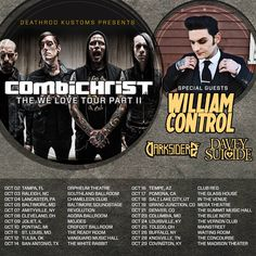 CombiChrist announce Fall tour with William Control, Davey Suicide and Darksiderz http://buff.ly/1za8eGs