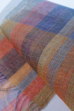 sheer silk shawl hand-dyed hand-loomed