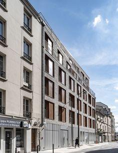 Building Layout, Building Facade, Pere Lachaise Cemetery, Mechanical Ventilation, Paris Climate, Timber Panelling, Urban Fabric, Concrete Structure, Oak Park