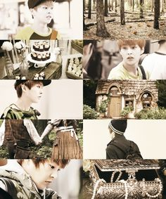 EXO starring in fairytales → Xiumin as Hänsel ( Hänsel and Gretel )
