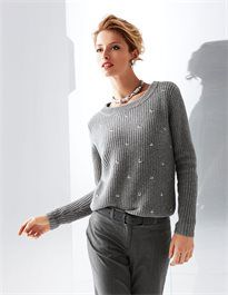 Damen Patentstrick-Pullover im Schurwoll-Mix. #madeleinefashion