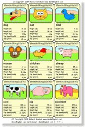 Genki English ESL Card Game - AMAZING!!! - for numbers and animals