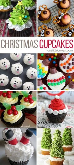 Easy Christmas Cupcake Ideas These Christmas cupcakes are totally doable! And they're SO CUTE! I can't wait to start my holiday baking!These Christmas cupcakes are totally doable! And they're SO CUTE! I can't wait to start my holiday baking! Holiday Cupcakes, Holiday Desserts, Holiday Baking, Holiday Treats, Holiday Recipes, Winter Desserts, Christmas Recipes, Christmas Cupcakes Decoration, Gourmet Desserts
