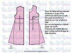 Diseño de vestido corte imperio básico
