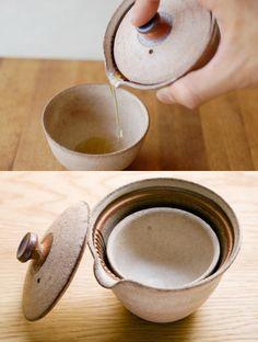 KYU-SU HITORI:信楽焼 急須 絞り出し式 一人用