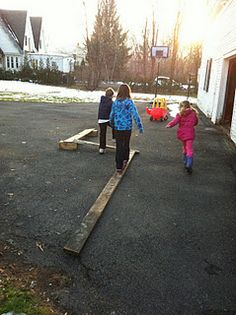 Build Your Own Balance Beam - Pinned by @PediaStaff – Please visit http://ht.ly/63sNt for all (hundreds of) our pediatric therapy pins