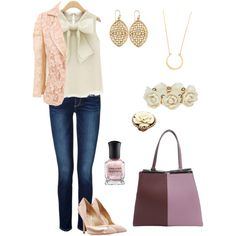 Casual Friday 60 by adgubbe on Polyvore featuring polyvore, fashion, style, Nude, Paige Denim, Paul Andrew, Fendi, Jennifer Zeuner, Wet Seal, Mary Louise Designs, Jill Zarin, Deborah Lippmann, Spring, cute, classic, casualoutfit and springfashion