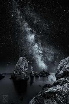 Milky Way rise, France