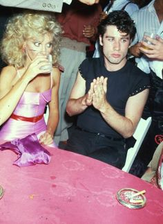 Olivia Newton John & John Travolta - Grease era....love love love her hair.....lol
