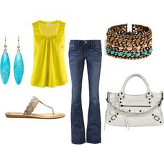love the yellow top .. and the bag!