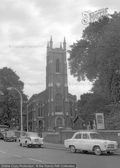 Photo of Tooting, St Nicholas Parish Church 1961 Old Pictures, Old Photos, Classic Cars British, Saint Nicholas, Old London, Kingston, 1960s, Families, Cities