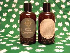 Vanilla Pomegranate Soap 8oz Shower Gel Bath and by KiltedSuds