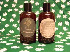 Vanilla Pomegranate Soap 8oz Shower Gel Bath and by KiltedSuds
